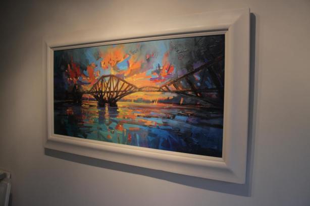 Forth Bridge Dawn Frame