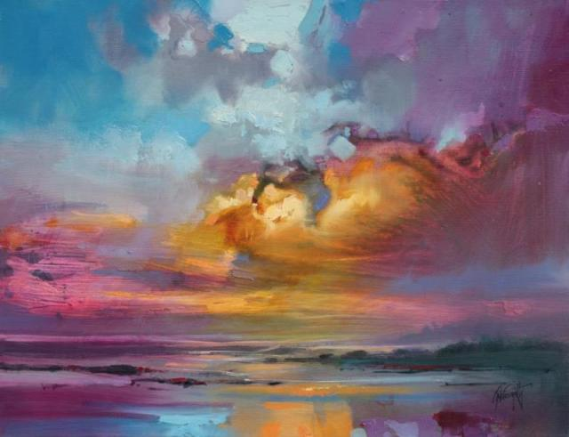Consonant Sky original Skyscape painting by Scott Naismith