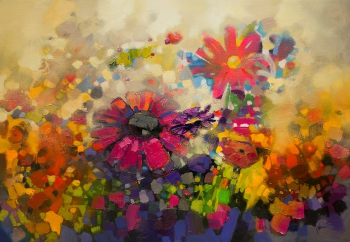 Abstract oil painting of Flowers by Scott Naismith