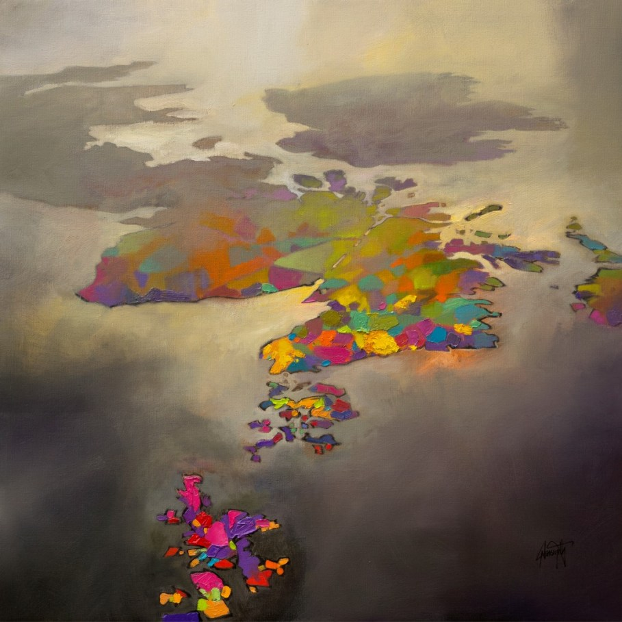 A Different Perspective. Scotland from Shetland painting by Scott Naismith