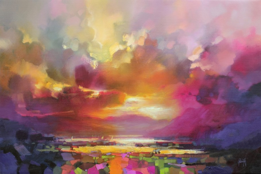 Cumulus Light 2 large skyscape painting by Scott Naismith