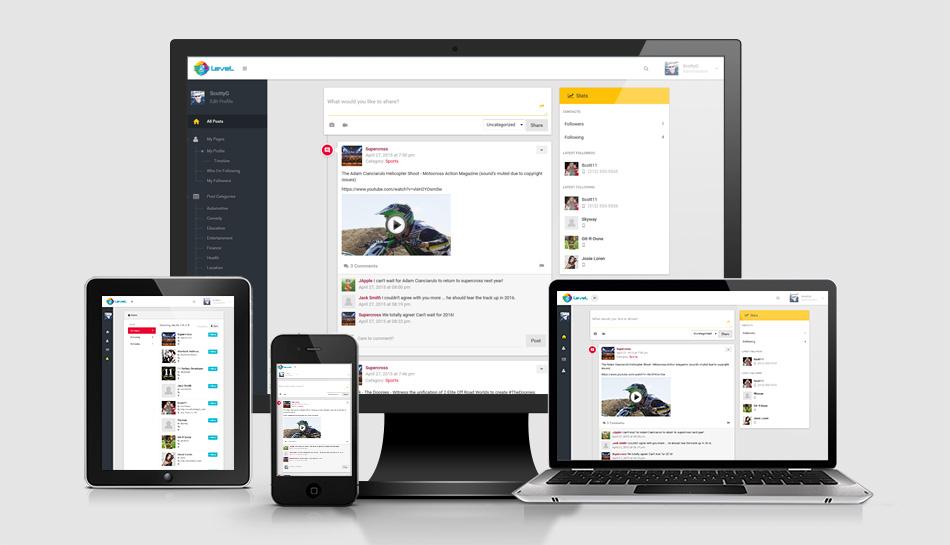Scott Geithman Designs 360LeveL Social Media User Sharing - Responsive Media