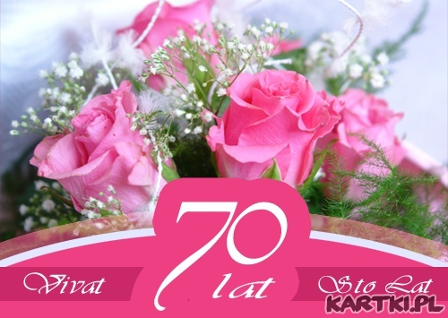 70 urodziny - KARTKIpl