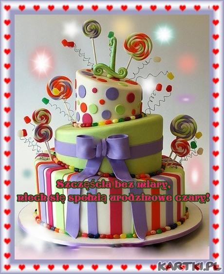 Szczęścia bez miary, niech się spełnią urodzinowe czary - KARTKIpl
