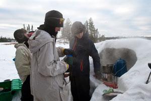 Northern Tier Okpik Program Cooking Breakfast