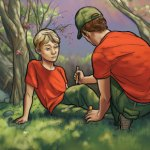 Boy Scout Image -- Bee Sting