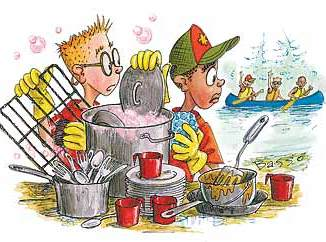 Boy Scout Image -- Camp Cooking Time