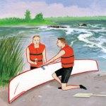 Boy Scout Image -- Canoe