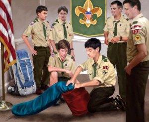 Boy Scout Image -- Scouts Lead