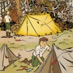 Boy Scout Image -- Tent Pitching