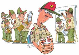 Boy Scout Image -- Too Many Leaders