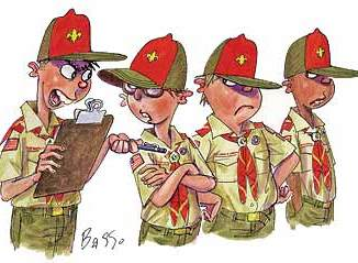 Boy Scout Image -- Youth leader styles