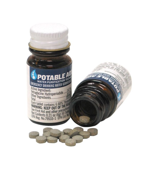 WATER PURIFICATION: POTABLE AQUA TABLETS