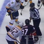 Linesman Hands Predators' Johansen Unsportsmanlike Penalty on Faceoff