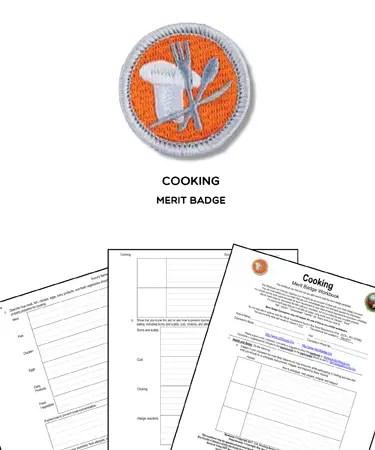 Cooking Merit Badge (WORKSHEET  REQUIREMENTS)