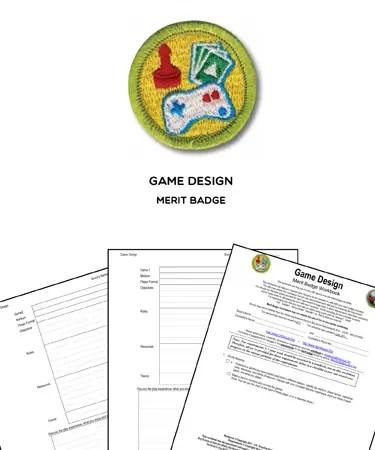 Game Design Merit Badge (WORKSHEET  REQUIREMENTS)