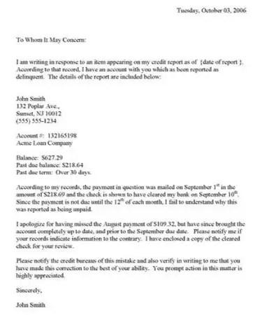 Credit Dispute Letter Template PDF - Free Download (PRINTABLE)