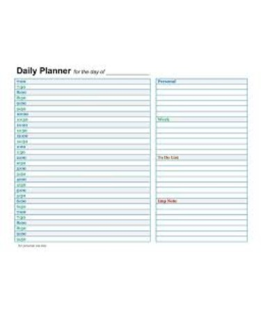 Daily Planner Template PDF - Free Download (PRINTABLE)