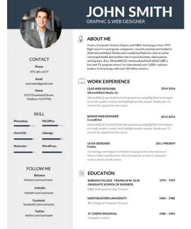Editable Resume Template PDF - Free Download (PRINTABLE) - resume template editable