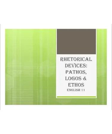 Ethos Pathos Logos Worksheet PDF Answers - (PRINTABLE)