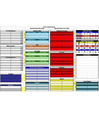 Football Play Call Sheet Template PDF - Free Download (PRINTABLE)