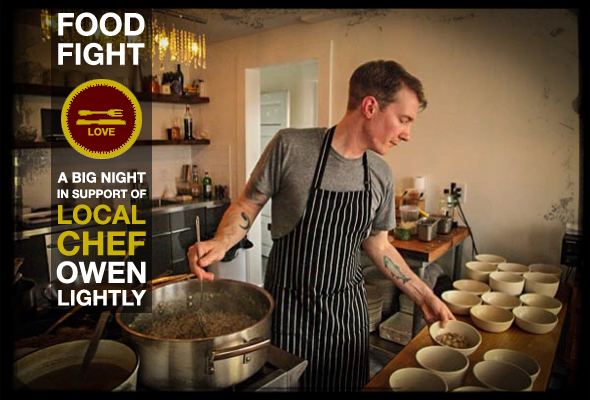 "All Restaurant Hands On Deck To Support Local Chef Owen Lightly With ""Food Fight"""