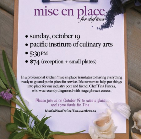 HONOUR BOUND | Vancouver Chefs Set To Gather In Support Of Tina Fineza On Oct. 19