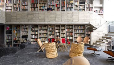 SPACED | Modern Mexico City Home Anchored By Gorgeous Library Fashioned From Concrete