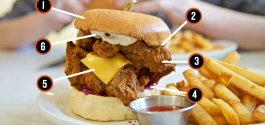 STACKED | Understanding The Superb Fried Chicken Sandwich At Fable Diner On Main St.