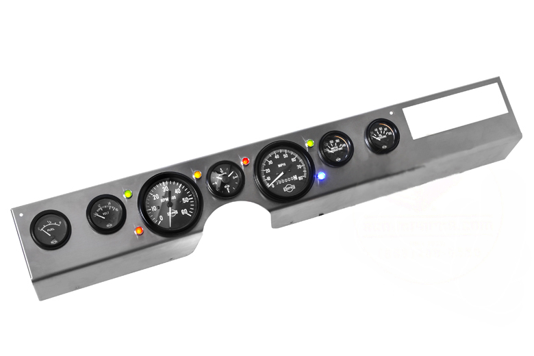 Scout II Dash Panel New Gauge Kit Combo -Panel, 7 Gauges, 6 LEDs
