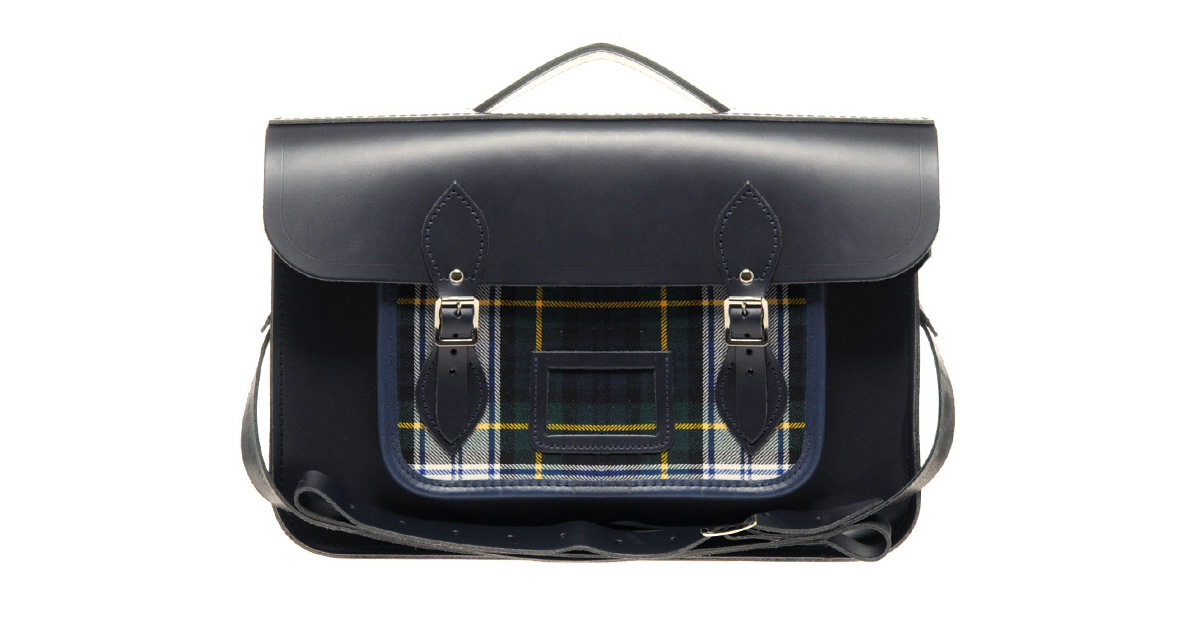 Cambridge Satchel - Black & Tartan (WIN IT!)