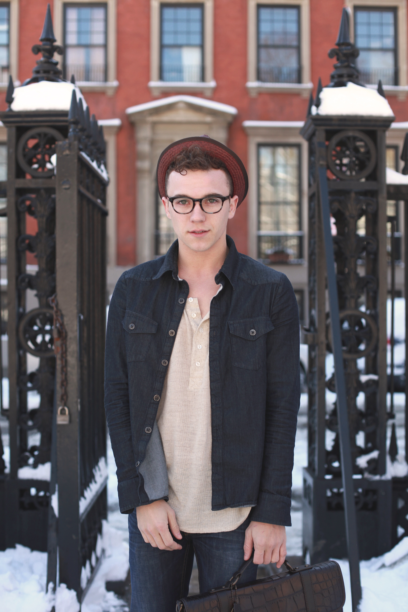 Scout Sixteen - New York Men's Fashion Blog / Coach Fedora / Warby Parker Preston Glasses
