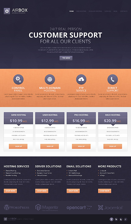 Hosting - Type drupal-templates - Template # 44261 - Espresso Templates