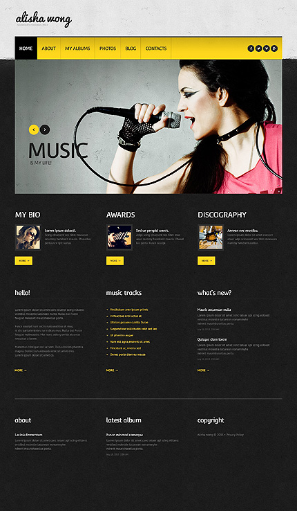 Personal Pages - Type wordpress-themes - Template # 45880 - Espresso