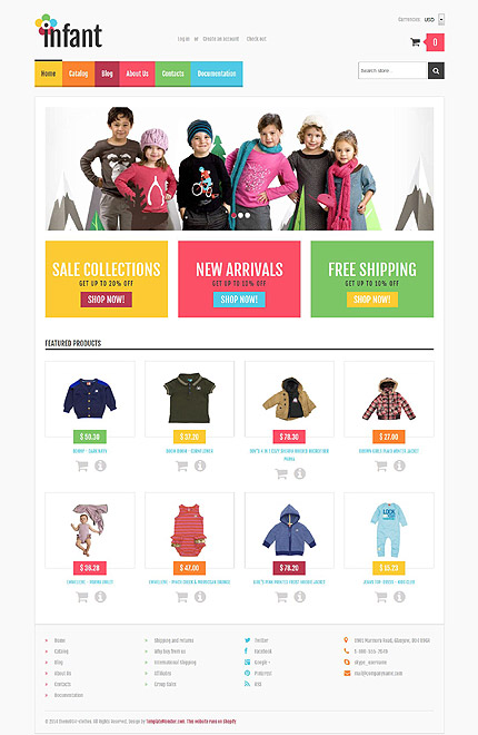 Template 52259 - Ensegna Themes - shopify template