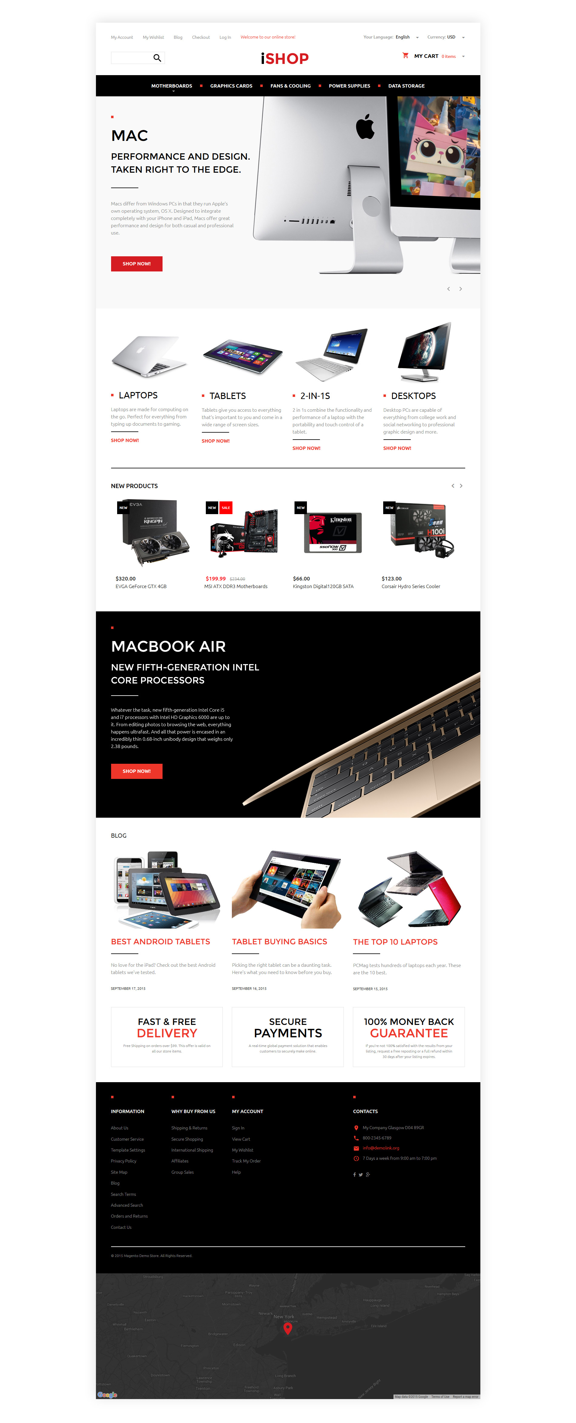 Computer Online Store Computer Hardware Magento Theme Properhost