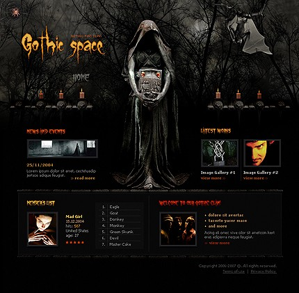 Halloween Templates - web templates - Page 1 - halloween website template