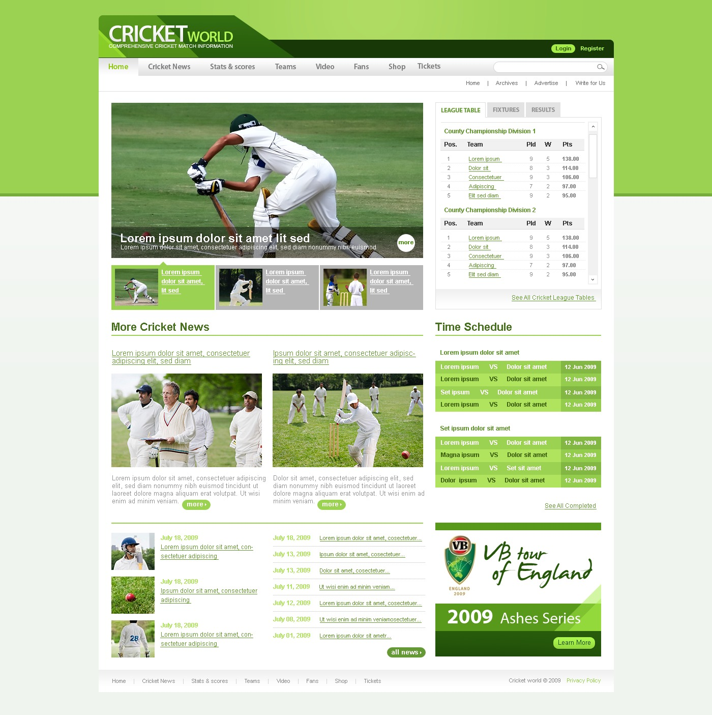 After Effects Templates Free Download Zip Cricket Website Template 25946