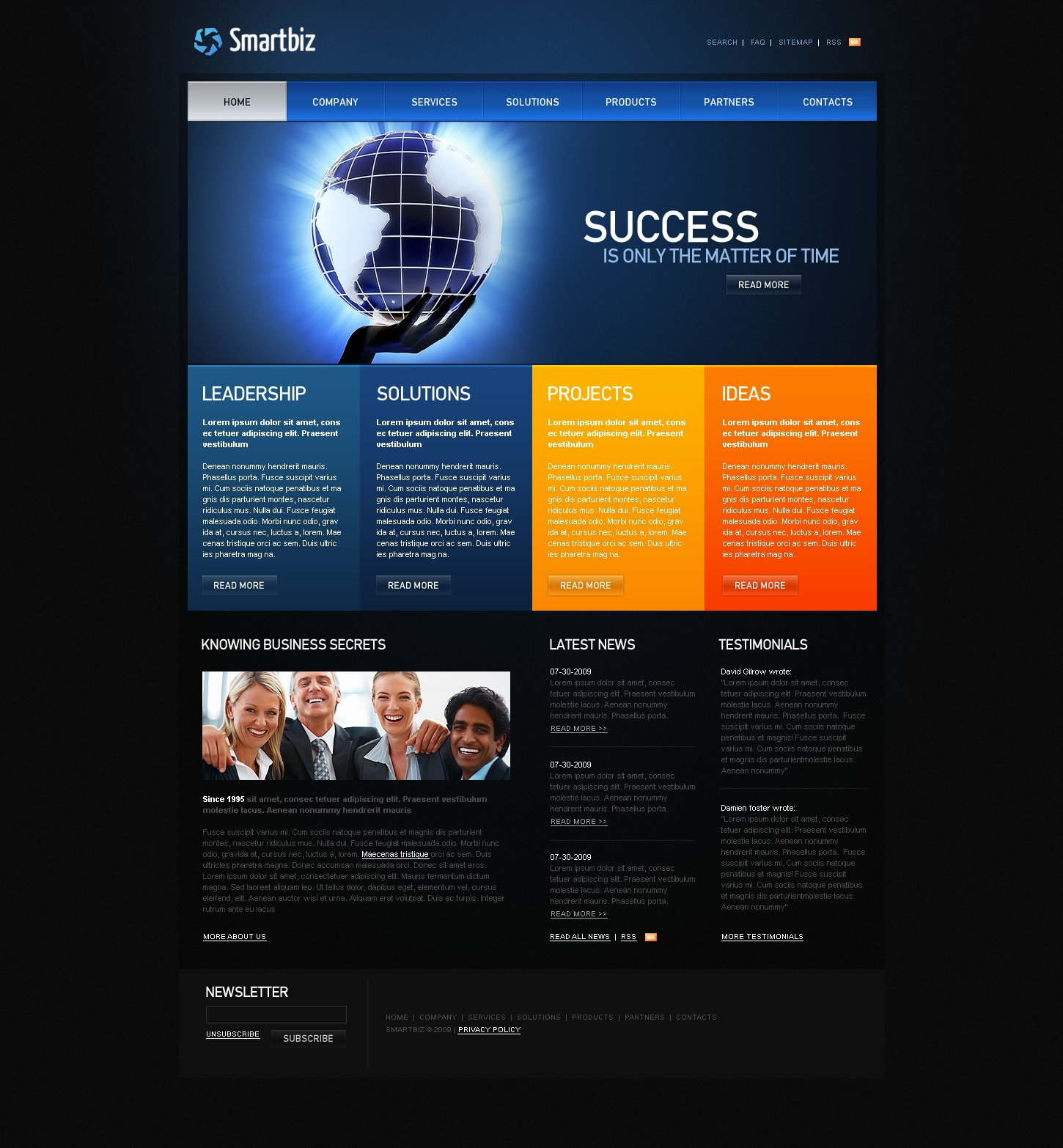 After Effects Templates Free Download Zip Business Website Template 26342