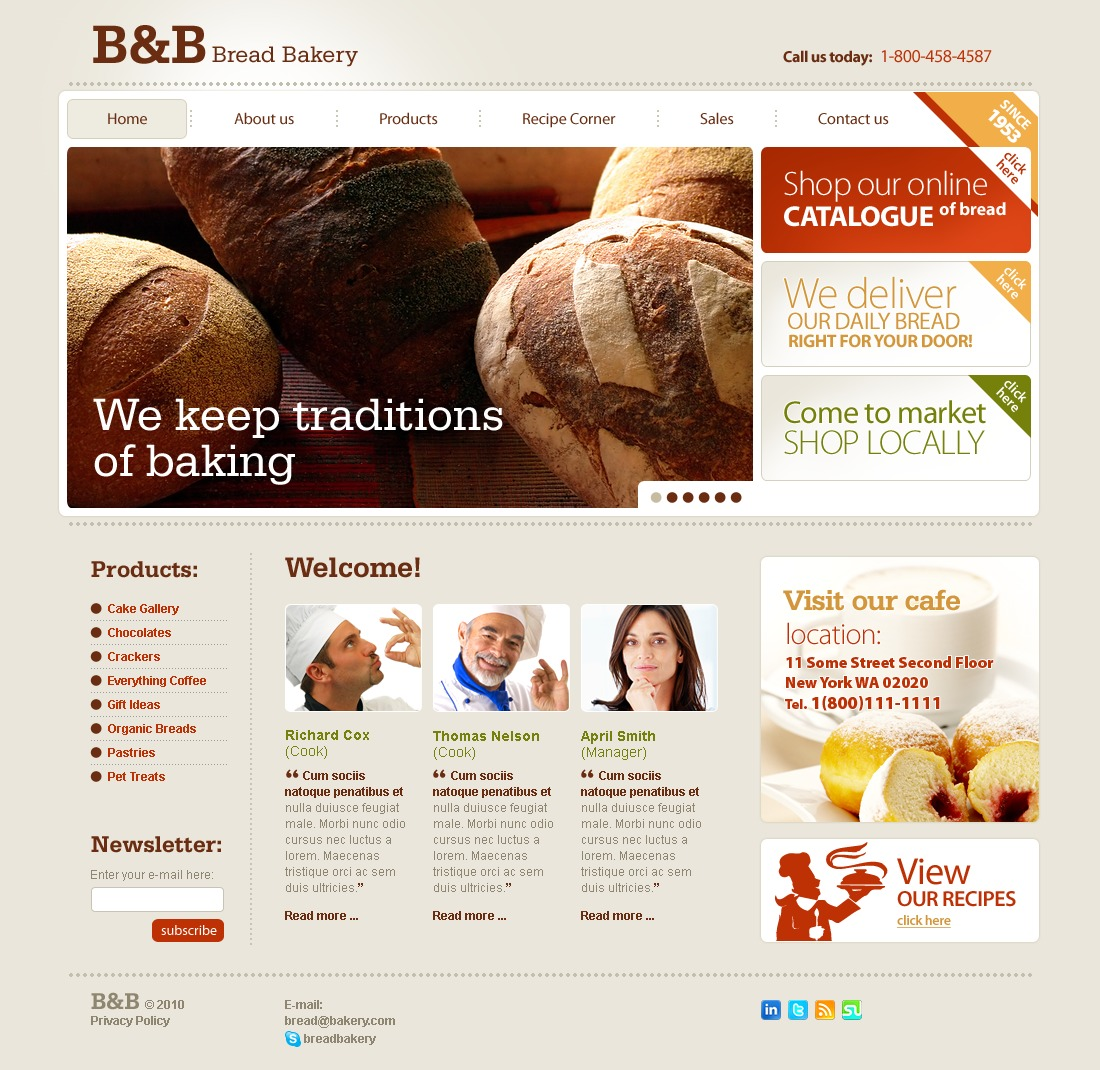After Effects Templates Free Download Zip Bakery Website Template 28957