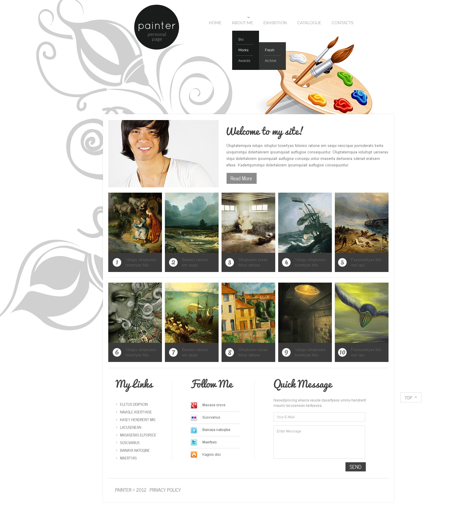After Effects Templates Free Download Zip Artist Portfolio Website Template 37538