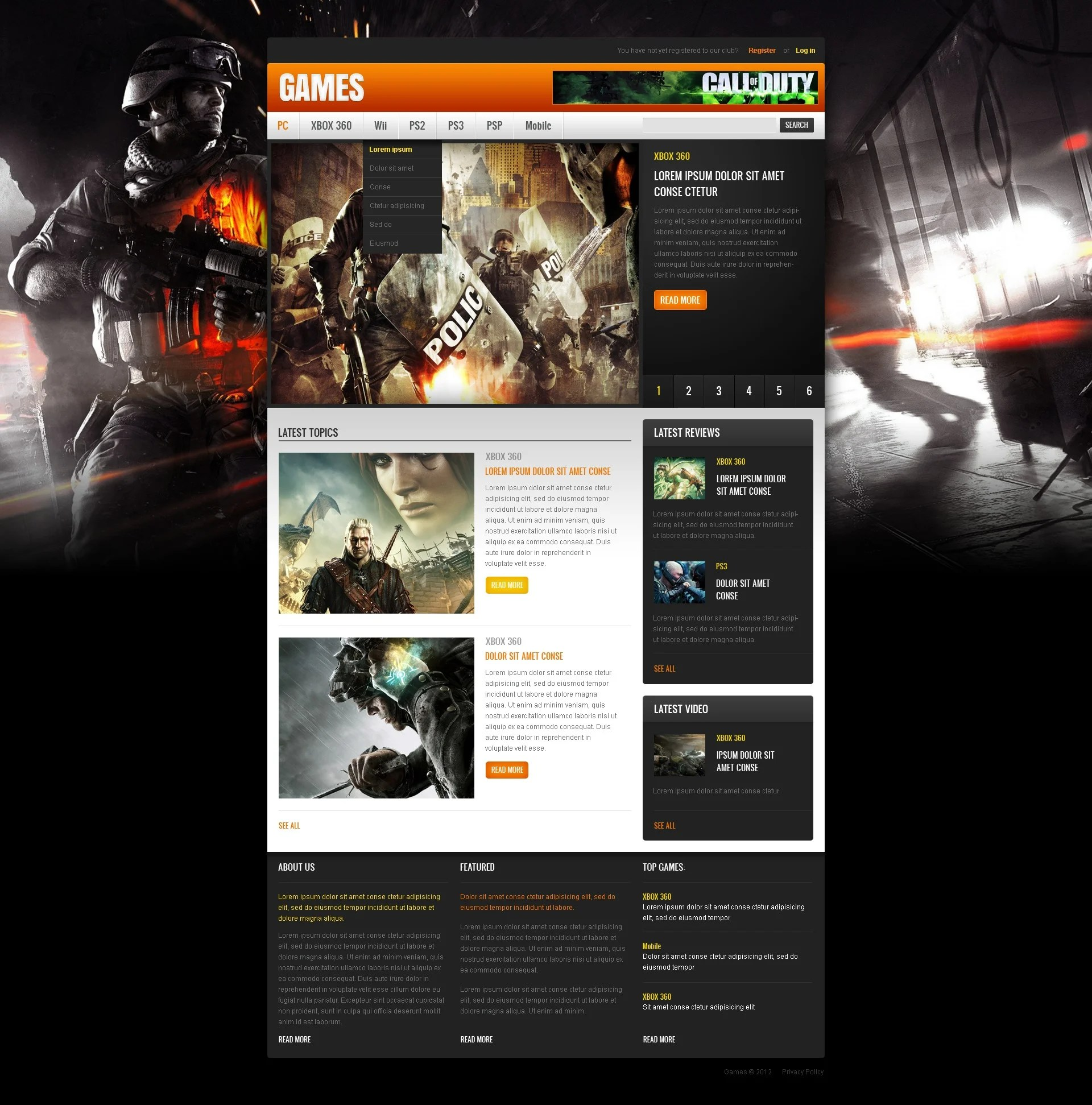 After Effects Templates Free Download Zip Game Portal Website Template 40507