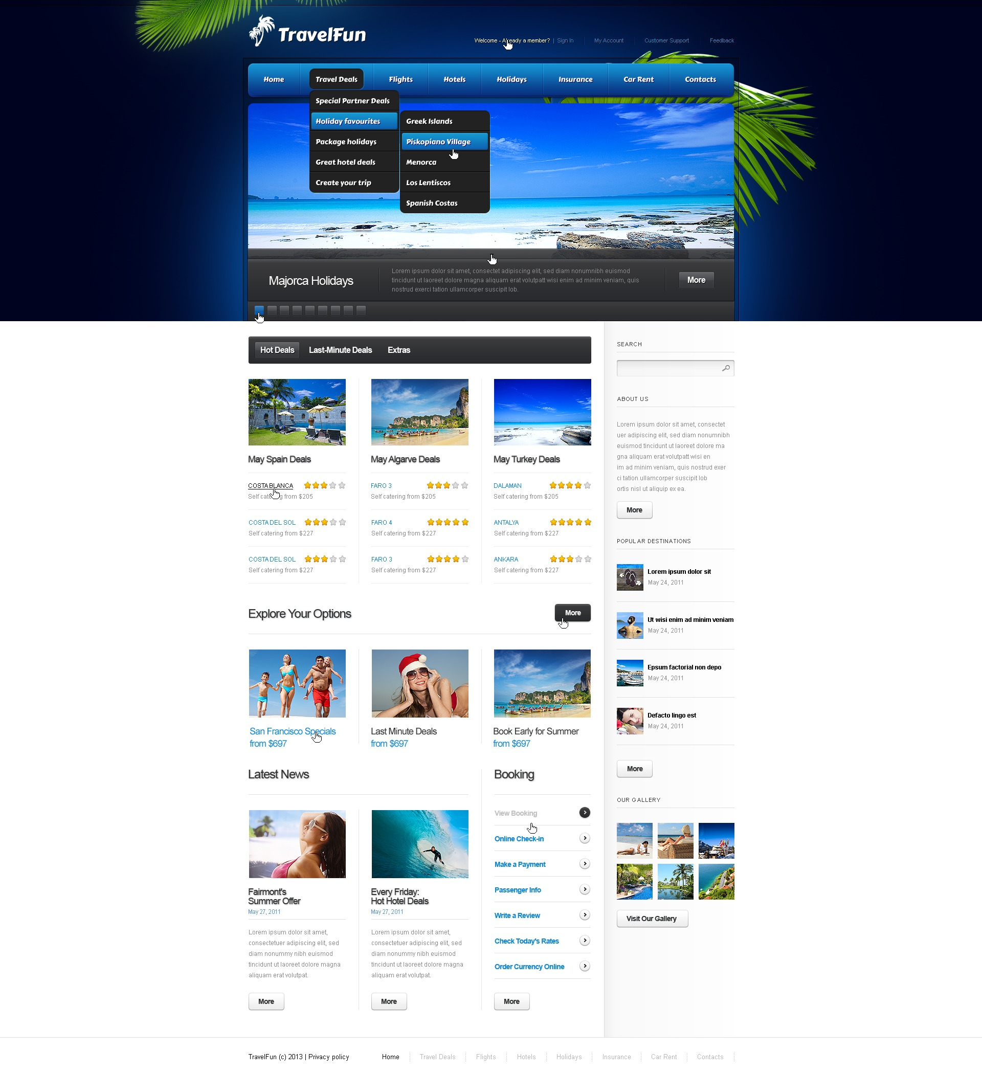 After Effects Templates Free Download Zip Travel Agency Website Template 41991