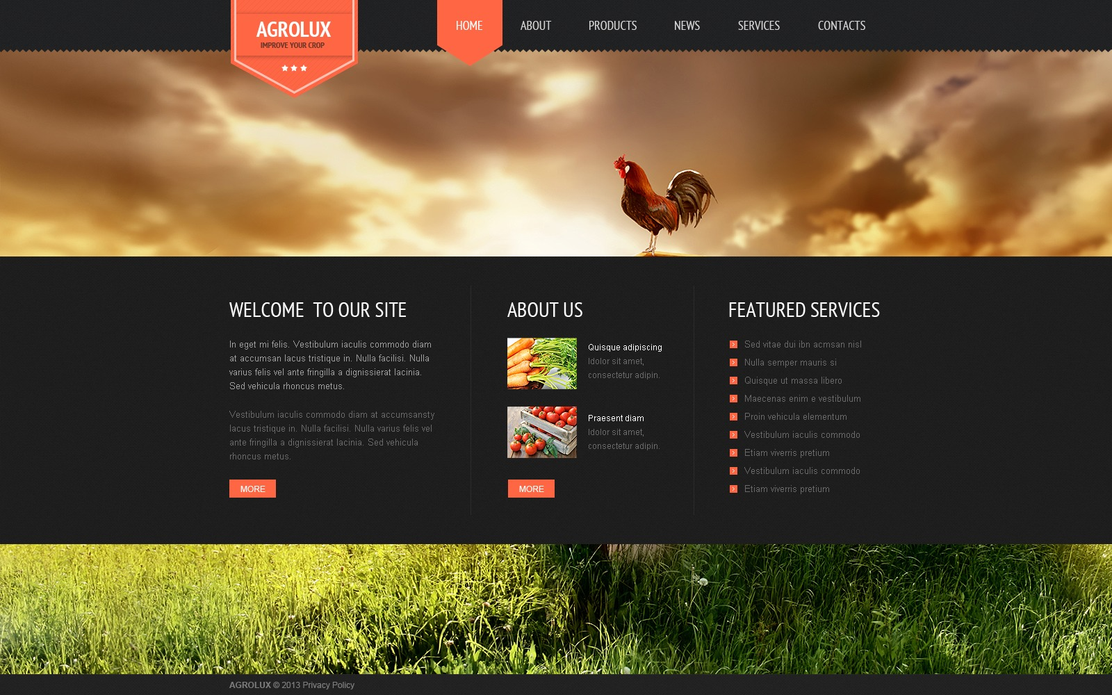 After Effects Templates Free Download Zip Agriculture Website Template 44539