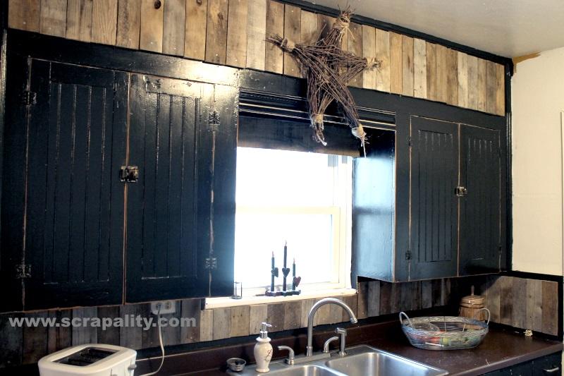 added pallet boards bellow pallet painting kitchen backsplashes pictures ideas hgtv kitchen
