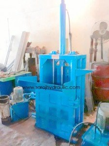 vertical pet bottle baler machine