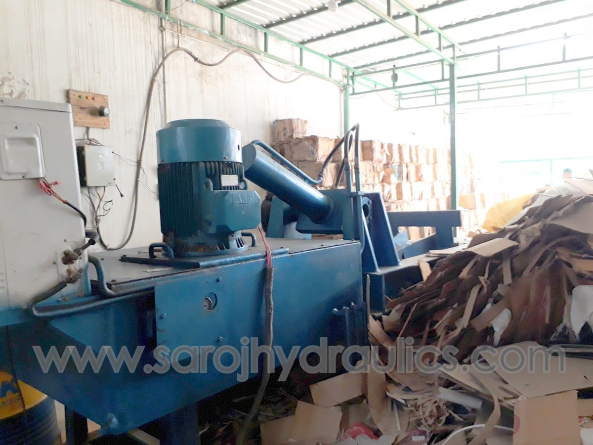 waste paper baling press machine
