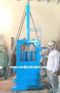 vertical scrap baling machine