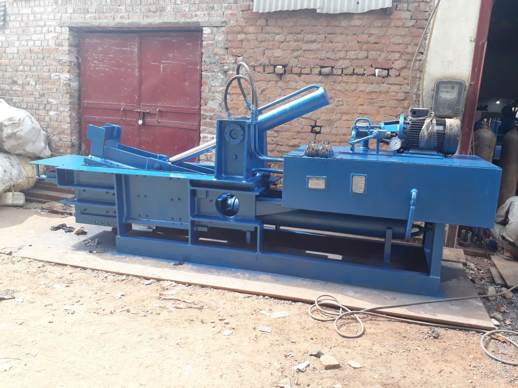 hydraulic double action scrap pressing machine