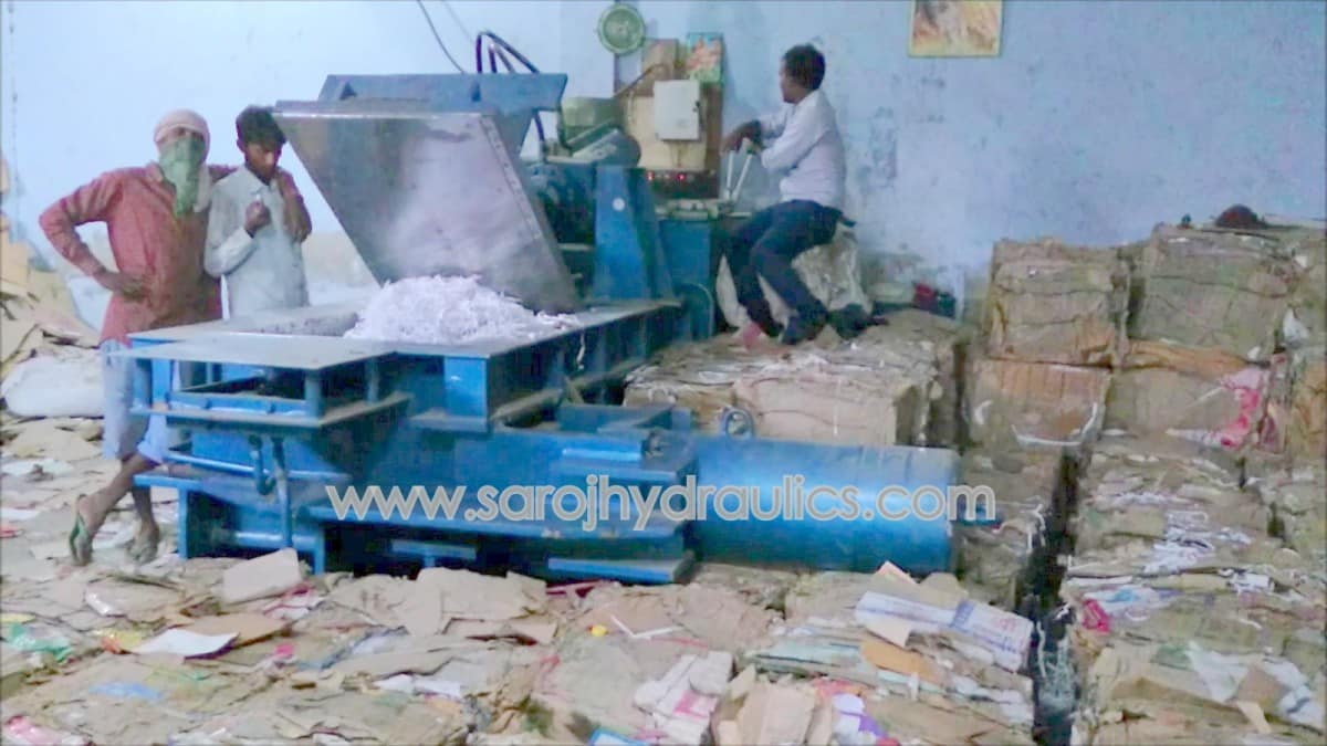 paper compacting bale press machine